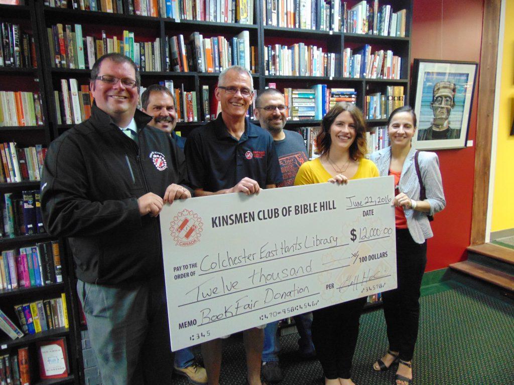 Kinsmen Library Donation