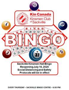 Sackville Bingo